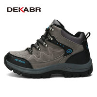 DEKABR New Winter Men Outdoor Hiking Boots Shoes High Quality Brand Pu Leather Mountain Shoes Male