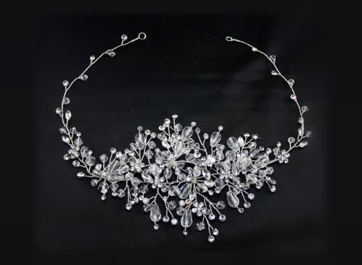 Crystal Wedding Headband Hair Accessories Bridal Headwear Hair Jewelry Rhinestone Head Chain Headpiece Ornament WIGO0429 все цены