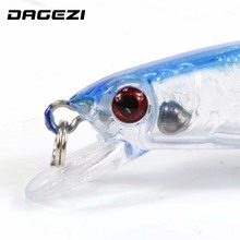 DAGEZI 5 pcs/lot clear color fishing lures fishing bait wobbler 9cm 9g minnow bass lure crankbait tackle Free shipping
