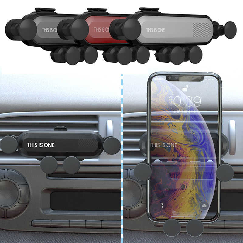 Universal Gravity Bracket Car Phone Holder Flexible Car Gravity Holder Support Mobile Phone Stand for IPhone Samsung