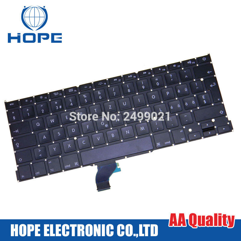 New A1502 Keyboard For Macbook Pro Retina 13 A1502 Swiss Keyboard Switzerland Keyboard Replacement 2013 2014 2015 image