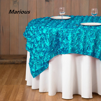 Round Table Runner | Marious Brand Marious Rosette Table Cloth Wedding Table Runner Cheap Wedding And Event Decoration Suppliers Free Shipping