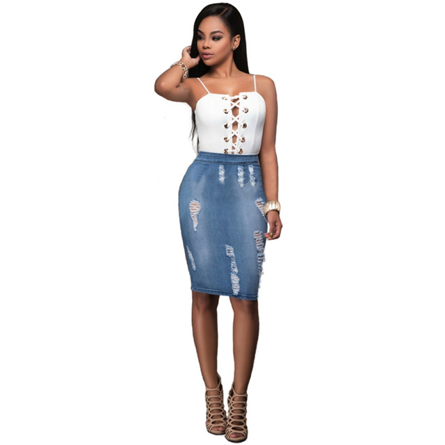 be77116e24 Summer Women Sling Top Tight Holiday Dress Casual Zipper Party Nightclub  Jeans Dresses Bodycon Bandage Office Wear 2017