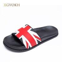 36 44 Plus Summer Slippers Men Shoes England UK Flag Men S Sandals Basic Beach Slippers