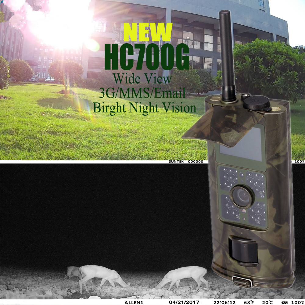 Photo Trpas Hunting Camera MMS 3G HD 16MP Trail Cam GPRS SMTP SMS 1080P Night Vision 940nm Scouting Cameras Trap  HC700G new 3g gsm mms smtp sms 16mp trail hunting camera 1080p night vision 940nm 120 degree scouting cameras trap