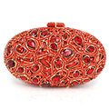 LaSC Newest Red stylish women evening bag Luxury Rhinestone clutch bag crystal handbags party purse wedding bag pochette Q63