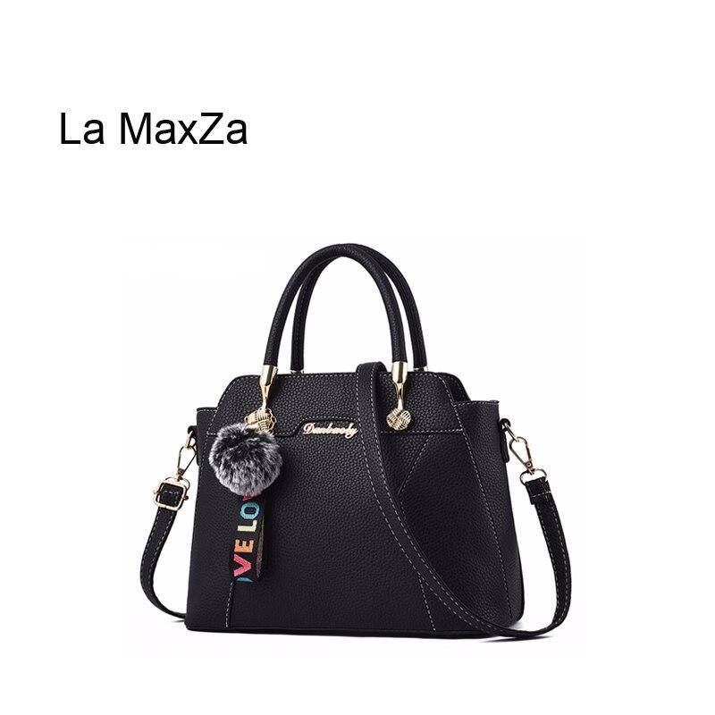 La MaxZa nom marque femmes poignées en cuir italien sac à main dames sacs à bandoulière noir femmes sacs à main dames sacs à main