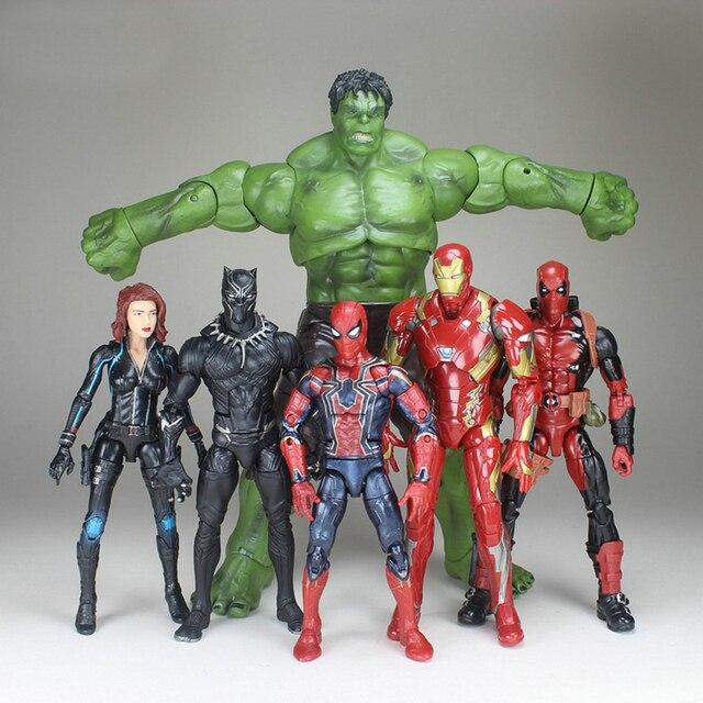 Marvel Avengers Alliance 3 Do Homem Aranha de Ferro, Capitão América, Deadpool Marvel Legends Ação Figura Brinquedos de Natal Presente de Ano Novo