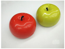 2018 explosion models mini 3D cute red green apple contact lens cleaner(China)
