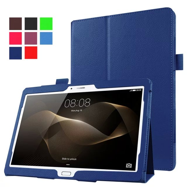 Slim Litchi Magnet Smart Sleep Cover Flip Stand Leather Funda Case For Huawei Mediapad M2 10.0 M2-A01L M2-A01M M2-A01W Tablet