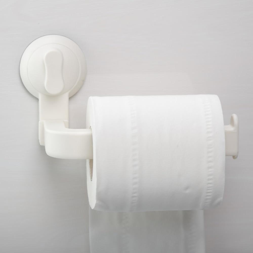 Suction Cup Rack Kitchen Bathroom Storage Waterproof Moisture Proof Towel Accessories Shelf Toilet Paper Holder Wall Mounted