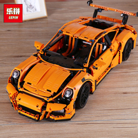 Lepin 20001 20001B Technic Series 2704PCS Orange White Super Race Car Model 42056 Building Kits Blocks Bricks DIY Toys for Boy