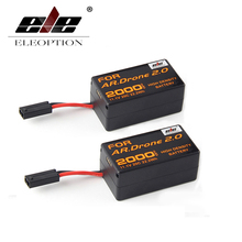 ELEOPTION 2PC High Density 2000mAh 11.1V Powerful Li-Polymer Battery For Parrot AR.Drone 2.0 Quadcopter Upgrade Powerful Battery(China)