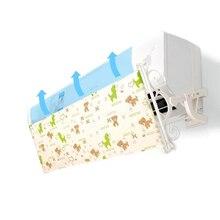 壁掛け空調偏向器印刷オックスフォード生地フロントガラス防止直接吹いバッフル AQ114