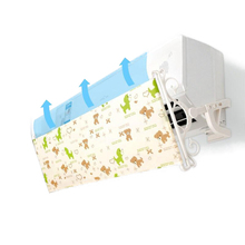 Wall mounted Air Conditioning Deflector Printing Oxford Fabric Windshield Prevent Direct Blowing Baffle AQ114