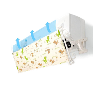 Image 1 - Wall mounted Air Conditioning Deflector Printing Oxford Fabric Windshield Prevent Direct Blowing Baffle AQ114