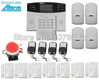 Free Shipping Smart LCD Display GSM SMS Home Alarm System 8 Wired 99 Wireless Defense Zones