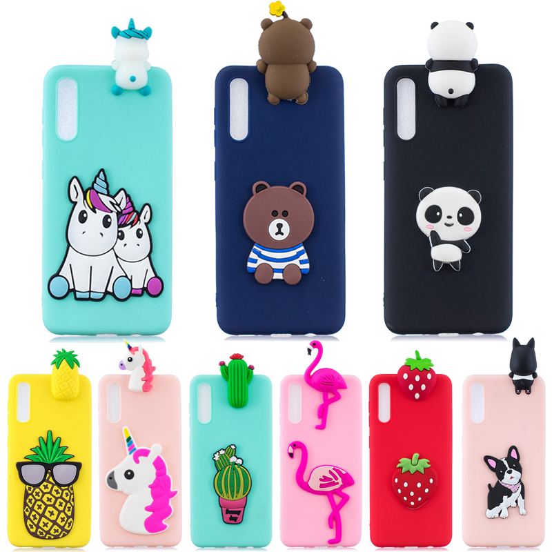 For <font><b>Samsung</b></font> <font><b>Galaxy</b></font> A50 <font><b>Case</b></font> on for Coque <font><b>Samsung</b></font> A50 <font><b>A70</b></font> A40 A30 A20 M20 M30 Cover 3D Unicorn Panda Doll Soft TPU Phone <font><b>Cases</b></font> image
