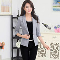 1pcs Women's jacket and blazers 2017 Spring Cotton blended Single button small Suit Jackets ladies Skinny blazers Coats girls