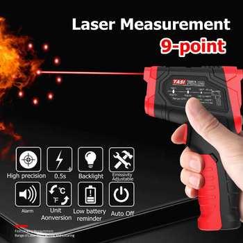 Termòmetre per infrarojos digitals Pistoles de temperatura sense contacte Pistoles de màquina làser IR IR pistoles de pantalla LCD colorida Alarma -50-880C