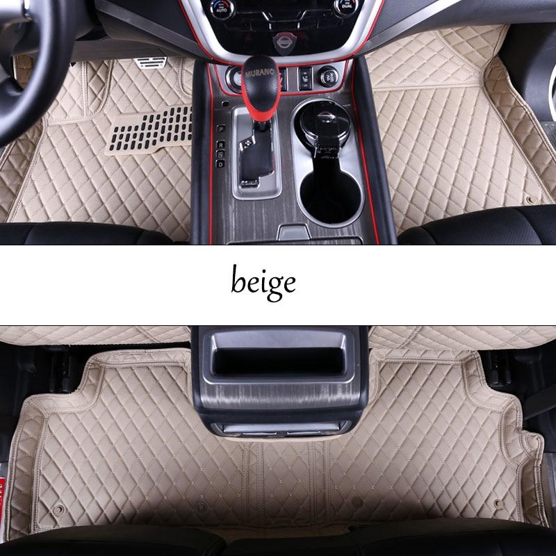 car styling fiber leather car floor interior mat for nissan murano 2008 2009 2010 2011 2012 2013 2014 2015 2016 2017 2018 for nissan r34 gtr carbon fiber radio surround stick on type rhd fibre interior garnish car styling in stock