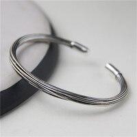 JINSE Authentic 925 Sterling Silver Bangle Bracelet Handmade Original Design Adjustable Bangles For Women Fine Jewelry