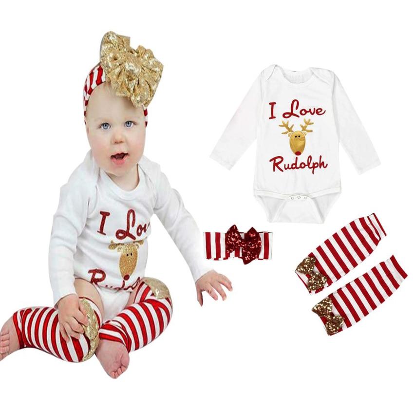 SAMGAMI BABY Bodysuit Christmas Clothing Cotton Long Sleeve Jumpsuit Santa Clause Infant Onesie 1 Birthday Newborn Clothes 0-24M