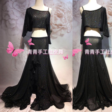 Bellydance oriental Belly Indian gypsy dance dancing costume costumes clothes bra belt chain scarf ring skirt dress set suit 050