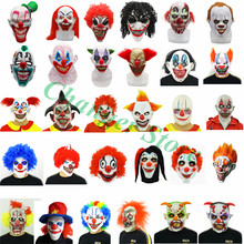 Halloween Scary Clown Mask Deluxe Latex Joker Helmet Cosplay Costume Party Props