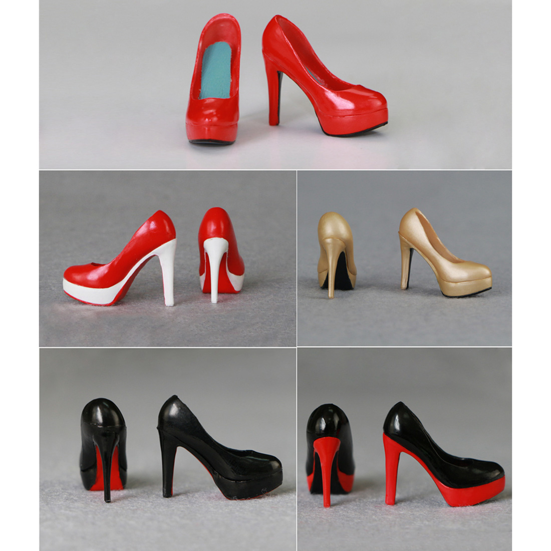 Shoes Figure-Model Educational-Toy Action High-Heels Female Adults 1/6-Scale For Kids