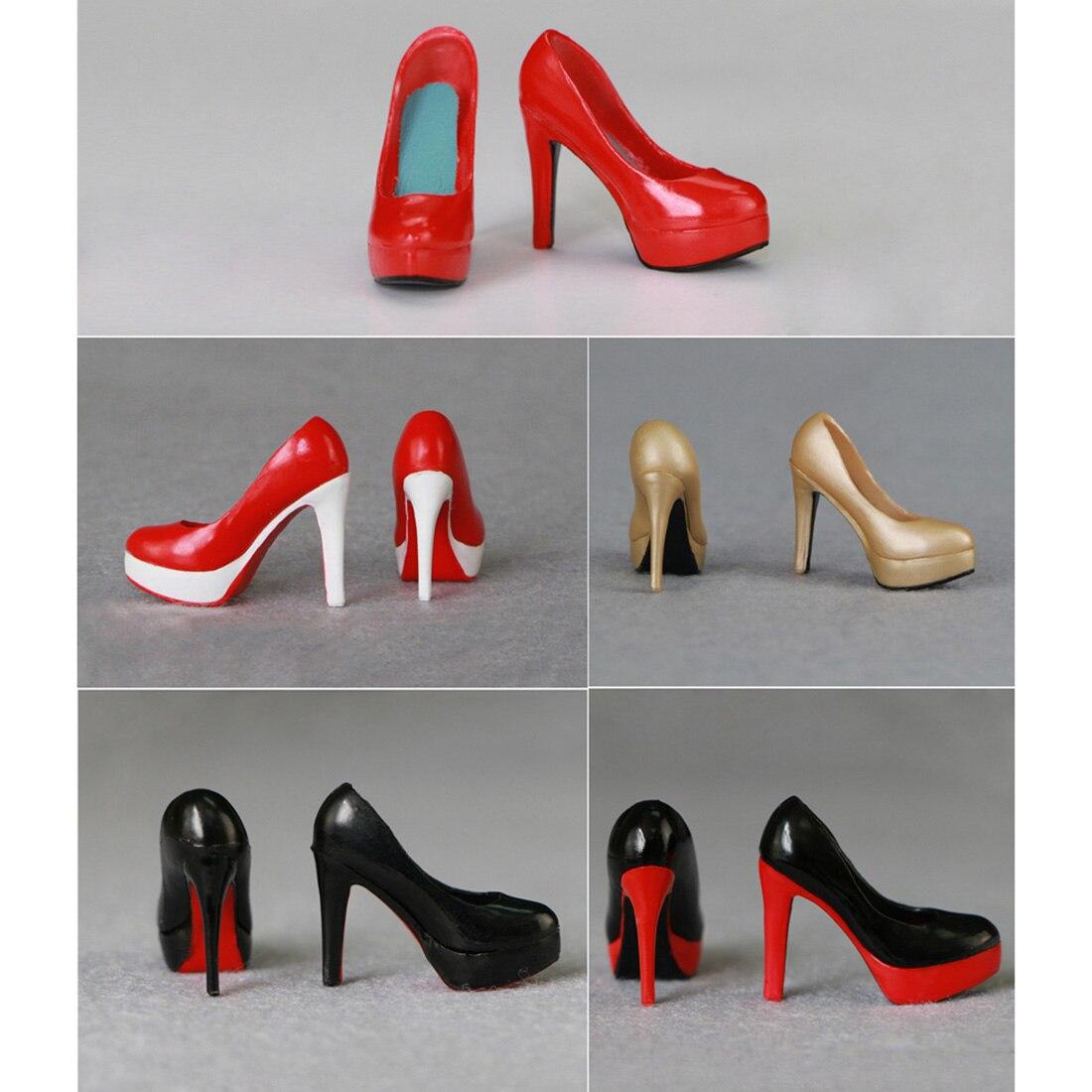 "1pair Figure Accessory Dark Green High-heeled Shoe F 12/"" Female Figure Doll Toy"