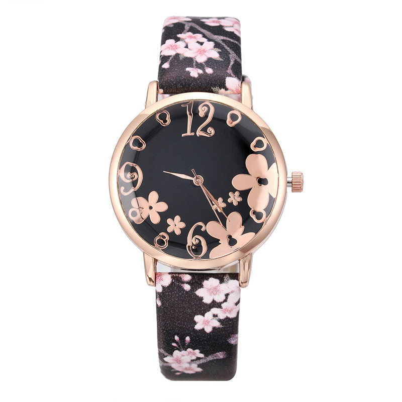 Women's Watches Best Sellers Ladies Fashion Embossed Flower Watch Small Fresh Printed  Kol Saati Zegarki Damskie Reloj  Mujer@50