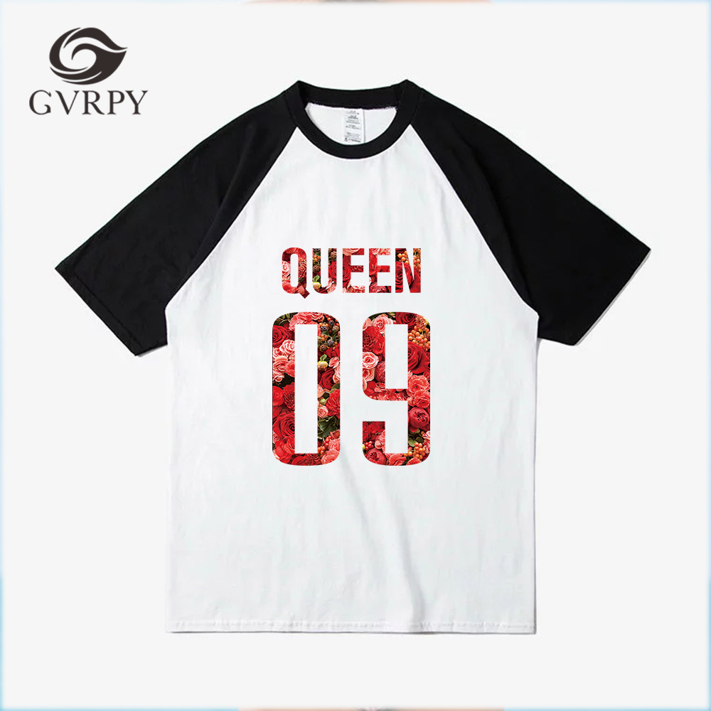 KING QUEEN Printed 2018 New Summer Fashion t shirts for Women Loose Short Sleeve Female  ...