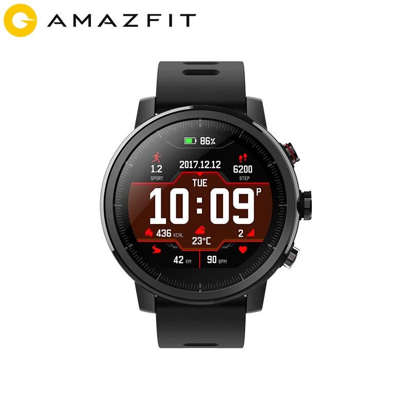 Huami Amazônia Stratos Ritmo 2 Smartwatch Relógio Inteligente GPS Bluetooth Contagem de Calorias Monitor Cardíaco 50 M À Prova D' Água