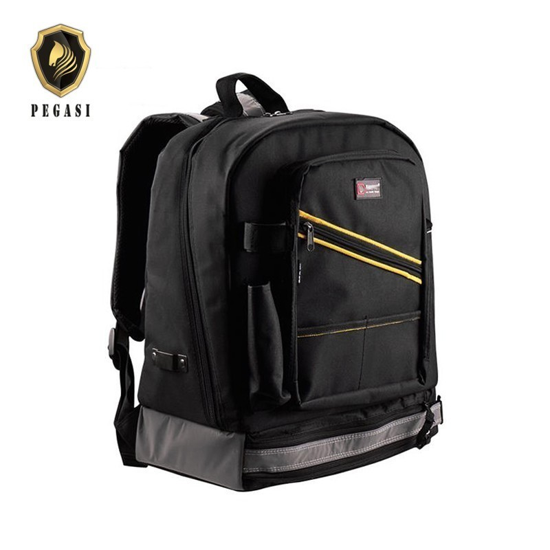 PEGASI Multifunction Waterproof Backpack Tool Work Bag Storage Electrician Carpenter Instrument Cases With Handbag Toolkit