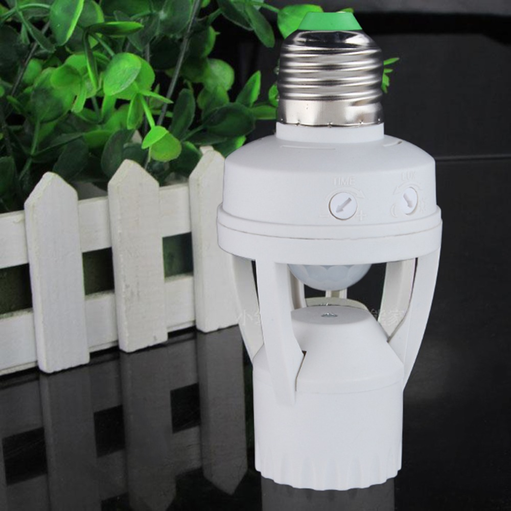 E27 Plug 360 Degree PIR Induction Motion Sensor Infrared Motion Detection Sensor Light Bulb Socket Switch Base Holder AC110-220V