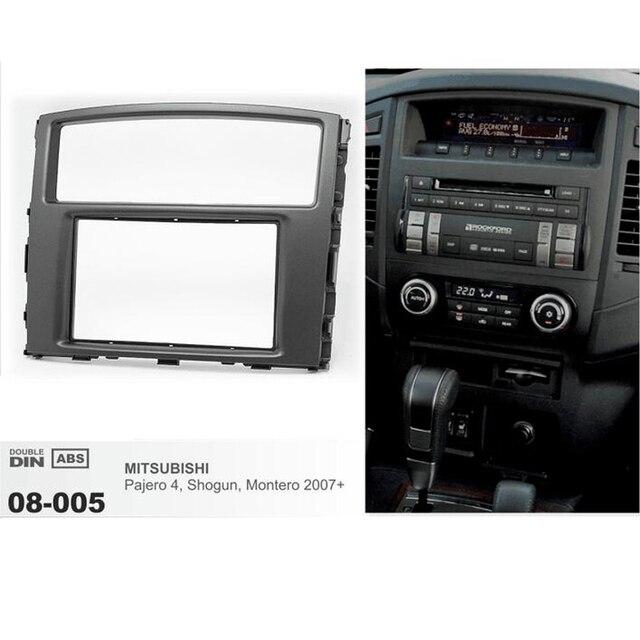 car radio fascia panel for mitsubishi pajero shogun montero 2007+ stereo  dash cd facia trim install frame kit 08-005