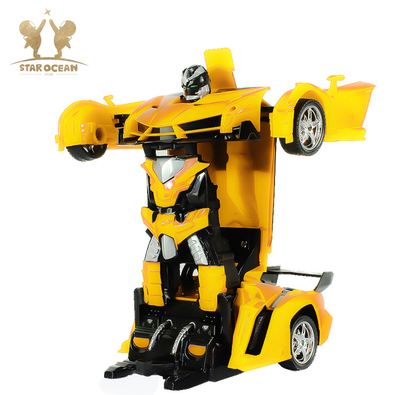Electronic Remote Control Deformation Car Hand Gesture Sensing One Key Control Transformer Children 39 s Toy Robot in RC Cars from Toys amp Hobbies