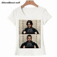 Женская футболка, женская футболка, сверхъестественное изображение, белая футболка, официальная, для женщин, для девочек, Winchest, модная, брендовая, забавная футболка