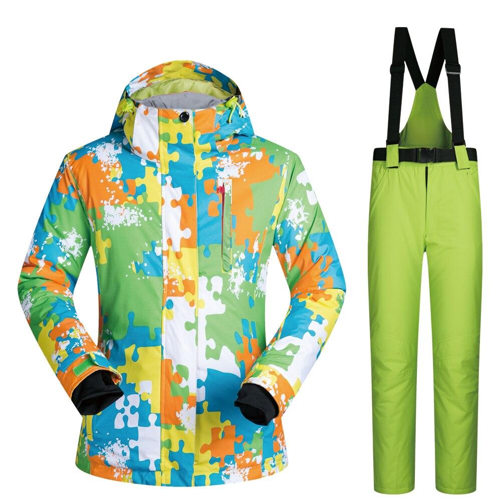 Pantalon de randonnée en plein air pour hommes et veste de Snowboard combinaison de Ski coupe-vent imperméable respirant épaissir les marques vêtements pour hommes
