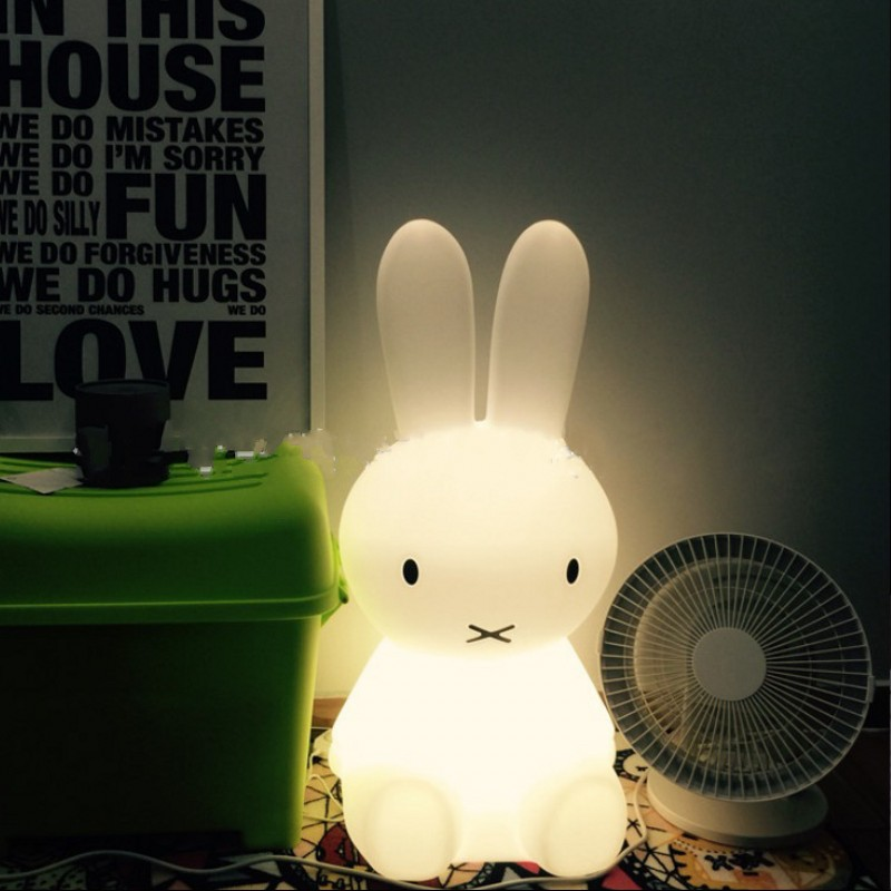 Cartoon Brown Bear Bunny 7 Color/Warm Light LED Dimmable Night Lights Child Bedroom Decoration Bedside Lamp Kids Holiday Gifts 2018 hero batman bat wall night light lampara shadow projection lamp child kids toy gifts warm light sensor contrller multicolor