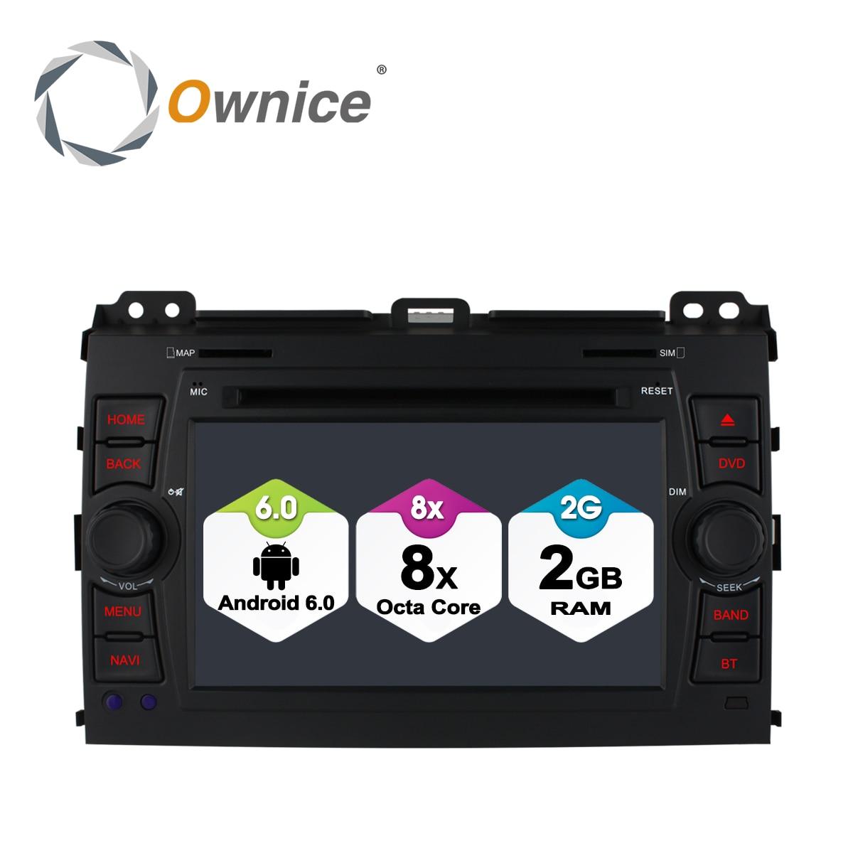 Ownice C500 4G SIM LTE автомобильный DVD для Toyota Land Cruiser Prado 120 2002 2009 Android 6,0 Octa 8 Core 2G RAM 32G ROM радио gps BT