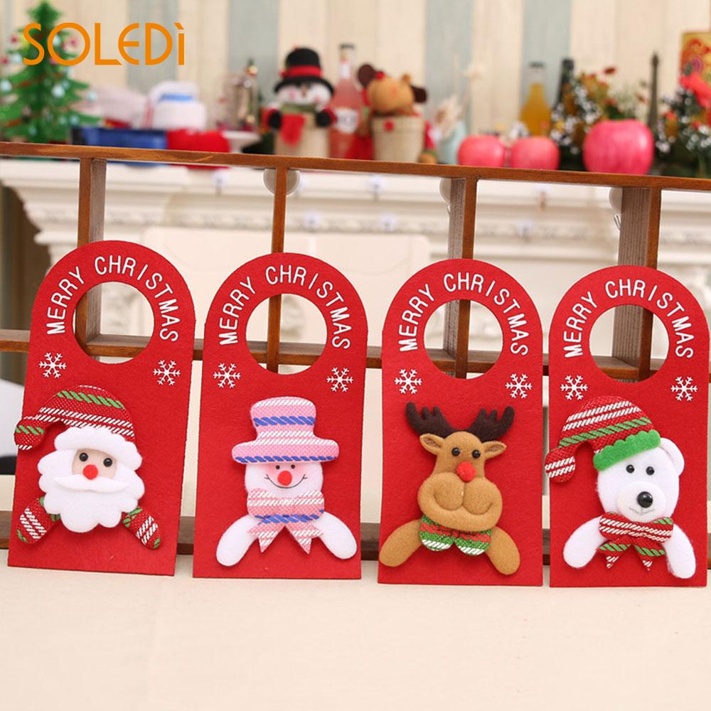 Christmas Door Hanging Velvet Pendant Kawaii Christmas Decoration Hanging Holiday Door Hanger Xmas Hanging Ornament Colorful