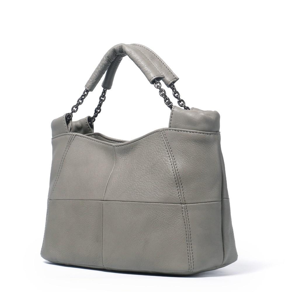 ICEV 2018 새로운 간단한 캐주얼 여성 정품 가죽 가방 핸드백 여성 유명 브랜드 디자이너 여성 메신저 백 Ruched Bolsos