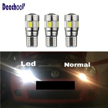 Free Shipping New Car Styling 2.88W W5W Light Source LED Parking Lights/Poliet bulbs Kit White for SEAT Leon 1M 1P Cupra R