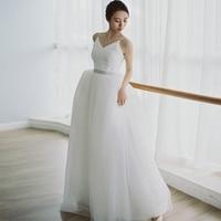 Simple Wedding Dress 2019 Real Photo Weddingdress Beach Vestido De Noiva Gown Back Lace Up Formal Dress Lace Bridal Dress