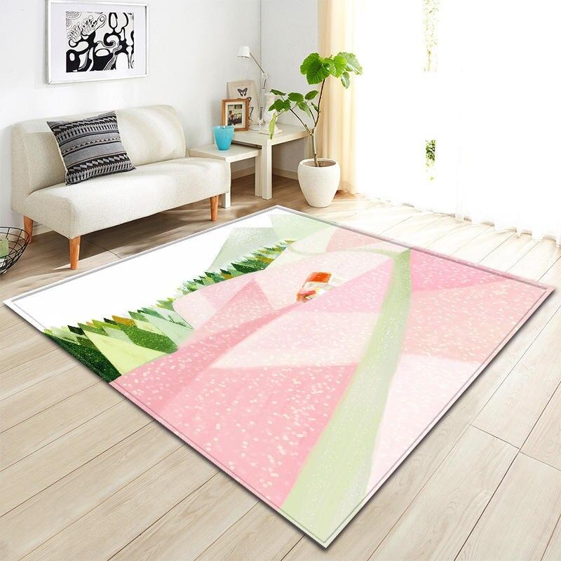 Peinture Simple impression tapis moderne pour salon chambre tapete nordique antidérapant grand tapis Floormat doux teppich décor à la maison