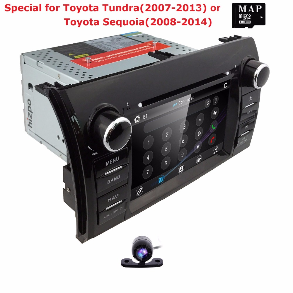 Lecteur CD DVD 2 din 7''Car pour Toyota Tundra (2007-2013)/Toyota Sequoia (2008-2014) RDS AM/FM 3G SWC IPOD CANBUS SD USB BT carte