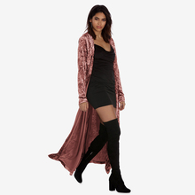 Women's Velvet Long Cardigan Trench Solid Casual Plus Size Women Autumn Trench Ladies Coat 2018 New Autumn Winter Female Outwear