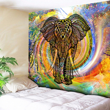Mandala Elephant Tapestry Moroccan Indian Decorative Wall Tapestries Rainbow Forest Cyclone Carpets Hanging Couch Blanket